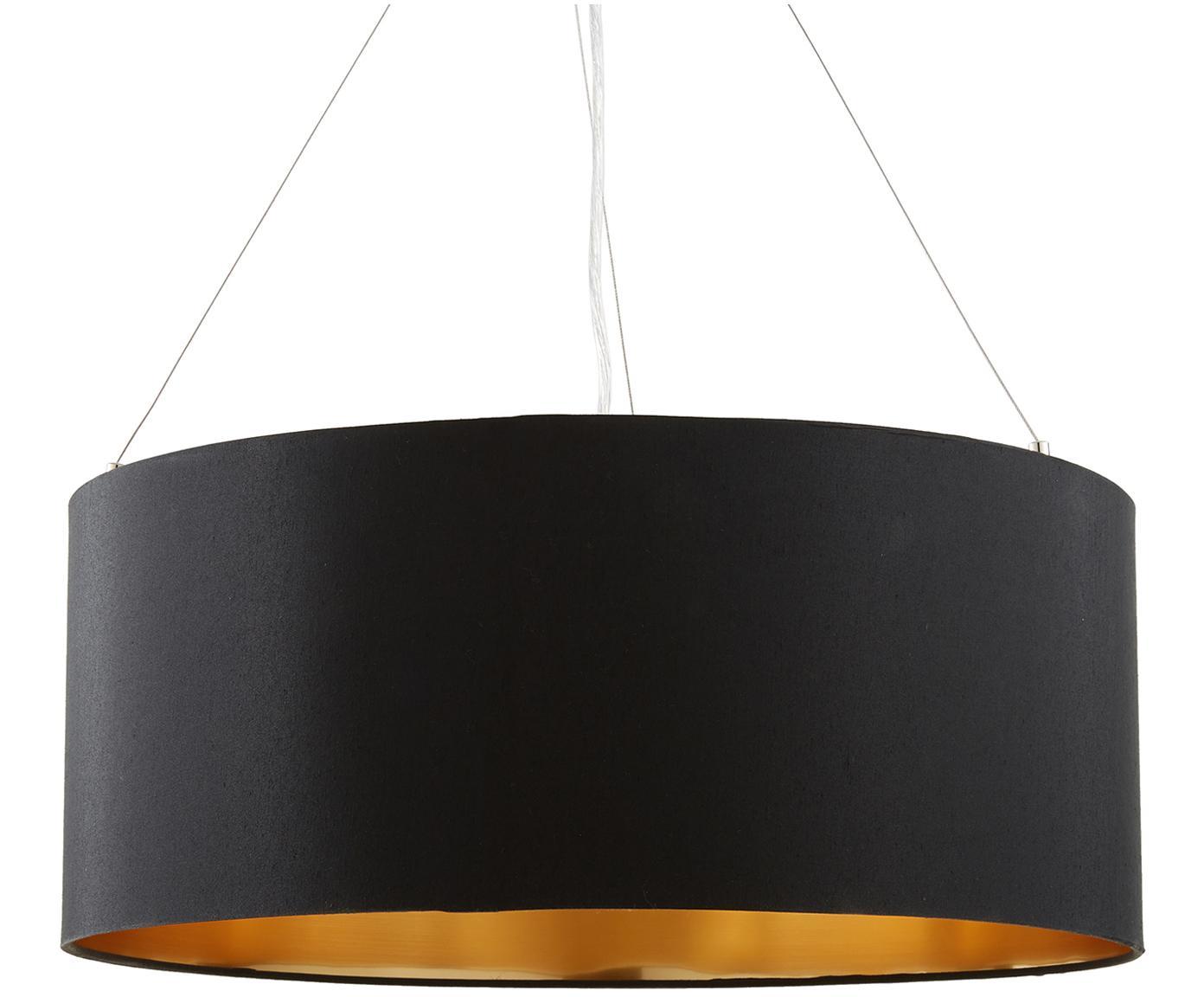 Lampa wisząca Jamie, Odcienie srebrnego, czarny, ∅ 53 x W 24 cm