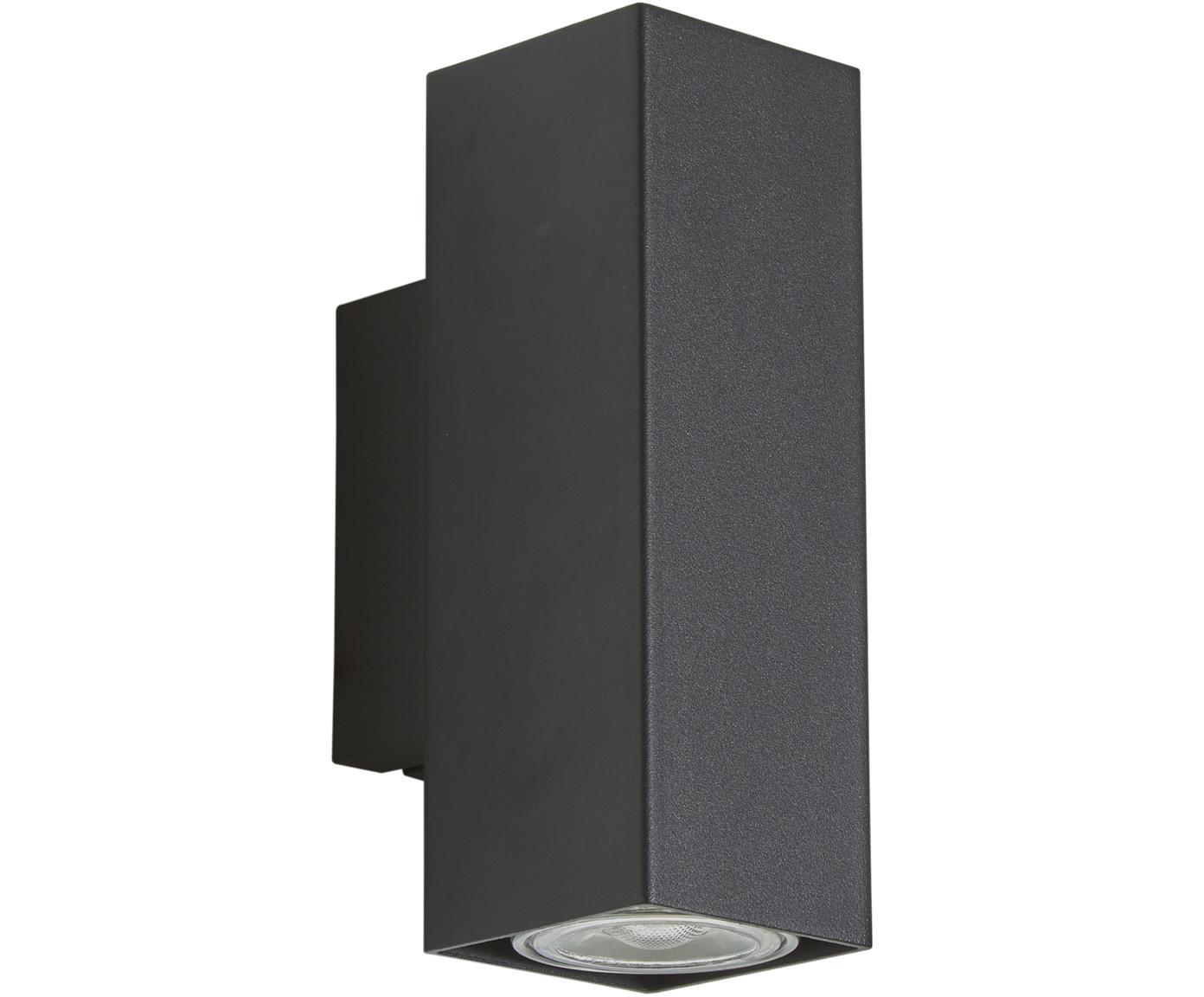 Aplique LED  Peter, Metal, pintado en polvo, Negro, An 5 x Al 8 cm