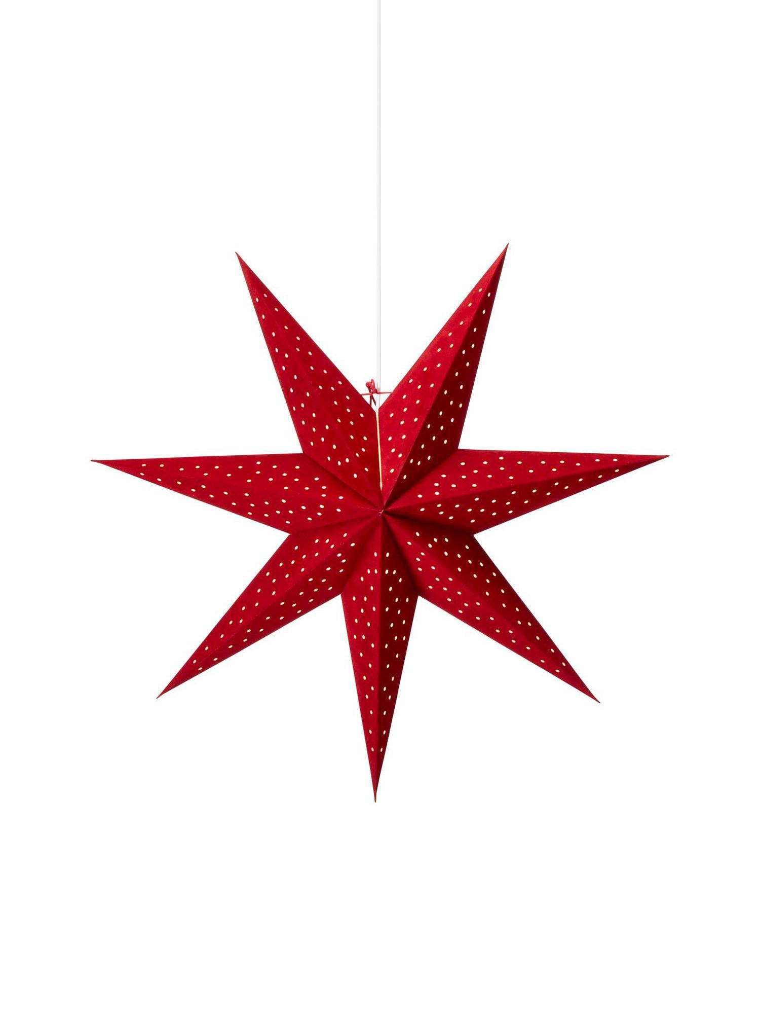 Stella di Natale in velluto Clara, Rosso, Ø 75 cm