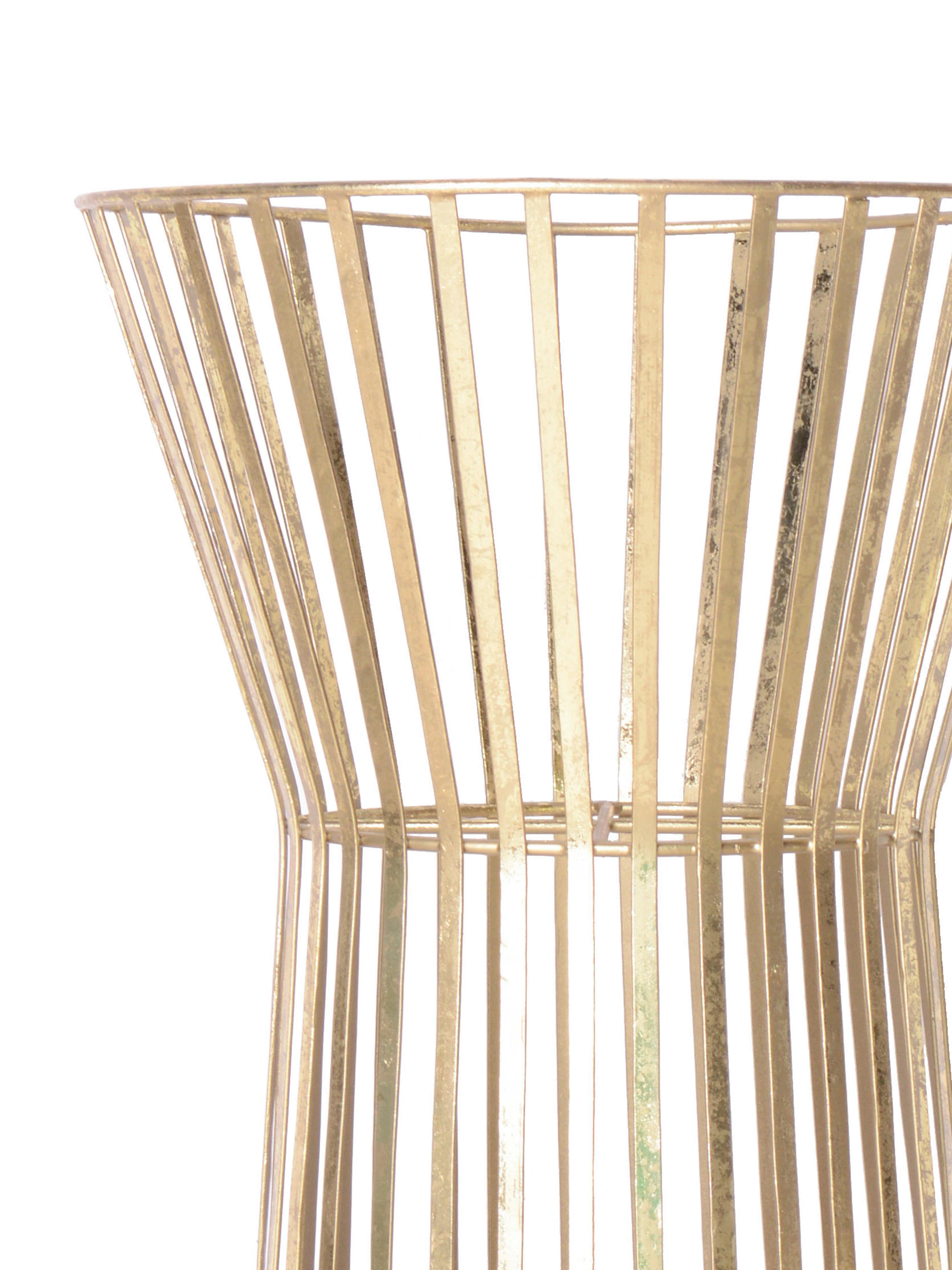 Pflanzentopfständer Gold, Metall, beschichtet, Messingfarben, Ø 34 x H 86 cm
