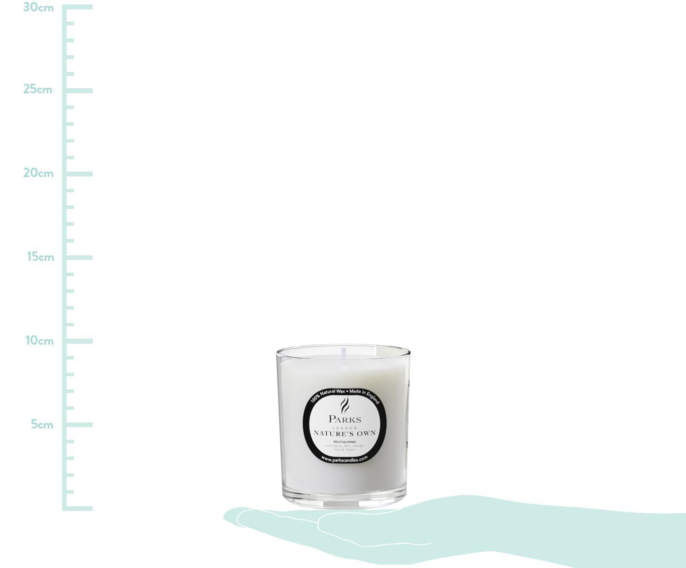 Vela perfumada Revitalising Spa (menta, cítricos y tomillo), Recipiente: cristal, Transparente, blanco, Ø 8 x Al 9 cm
