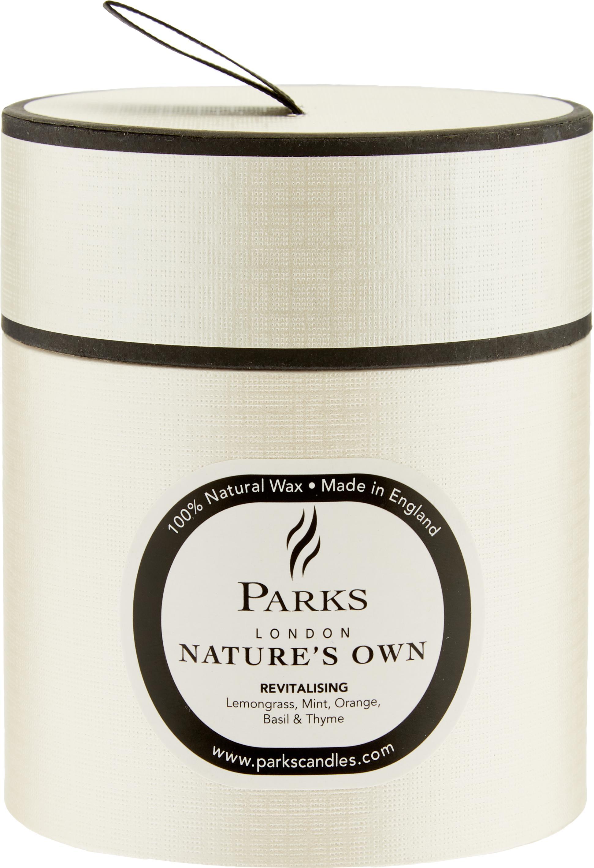 Duftkerze Revitalising Spa (Minze, Zitrus & Thymian), Behälter: Glas, Transparent, Weiß, Ø 8 x H 9 cm