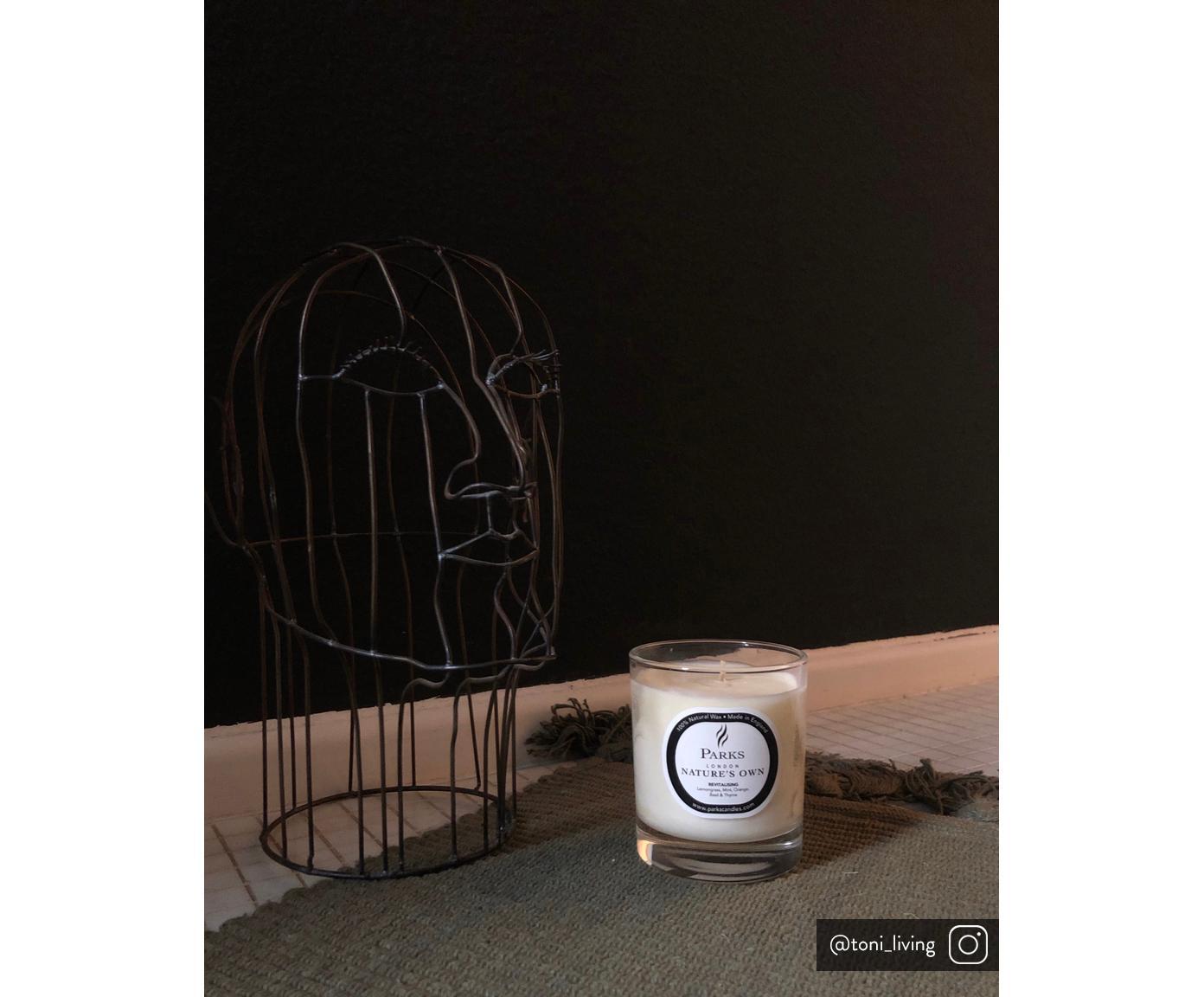 Świeca zapachowa Revitalising Spa ( mięta, cytrusy i tymianek), Transparentny, biały, Ø 8 x W 9 cm