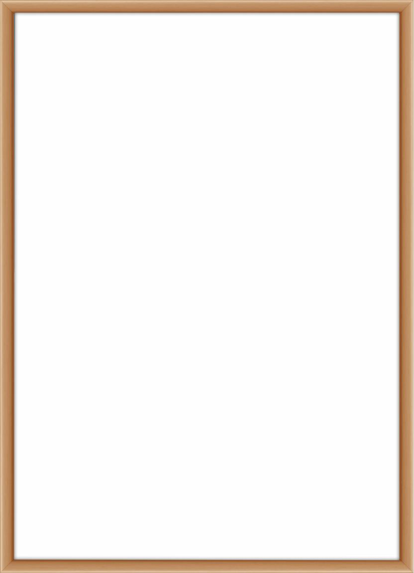 Cornice color rame Accent, Cornice: alluminio, rivestito, Retro: Pannello di fibra a media, Ramato, 21 x 30 cm