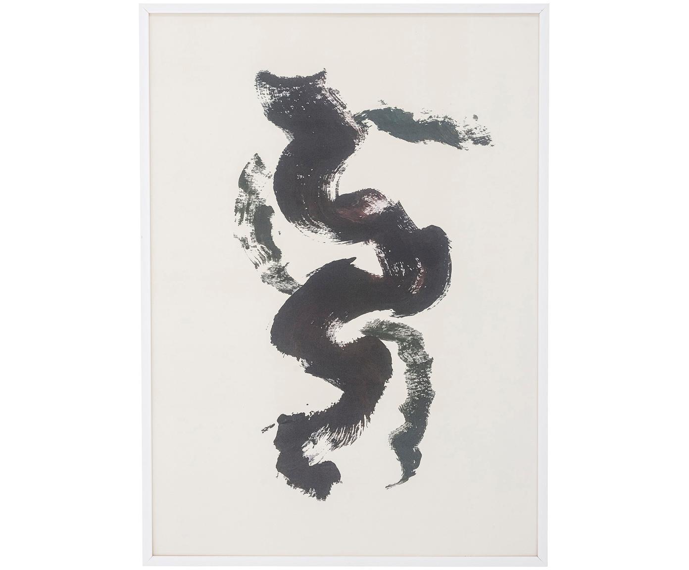 Oprawiony druk cyfrowy Fredrik, Czarny, biały, S 52 x W 72 cm