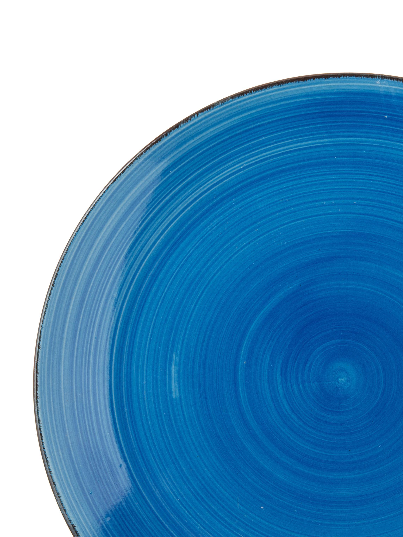 Komplet ręcznie malowanych naczyń  Baita, 18elem., Kamionka (twardy dolomit), ręcznie malowana, Odcienie niebieskiego, Komplet z różnymi rozmiarami
