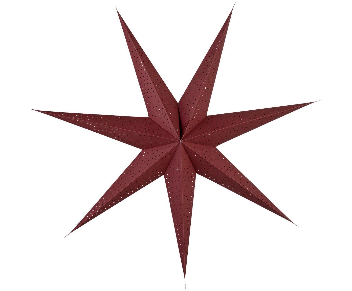 Papierstern Icilinia, Papier, Granatapfelrot, Ø 80 cm