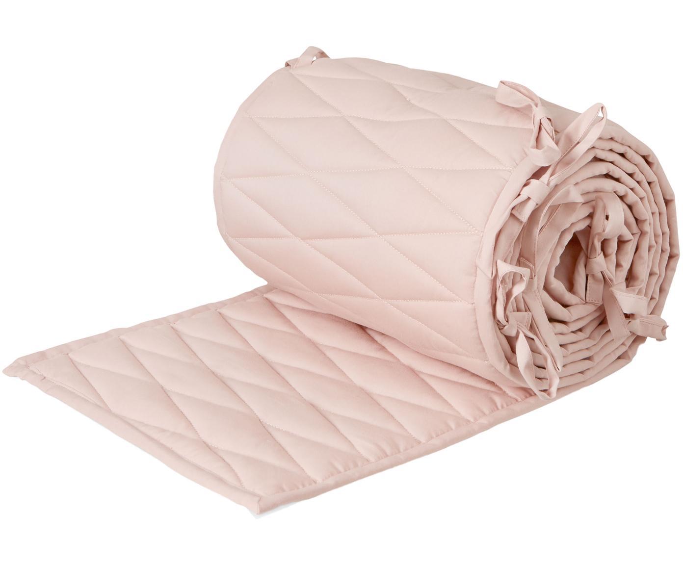 Pracolpi per lettino e culla Safe, Rivestimento: cotone organico, Rosa, Larg. 30 x Lung. 365 cm