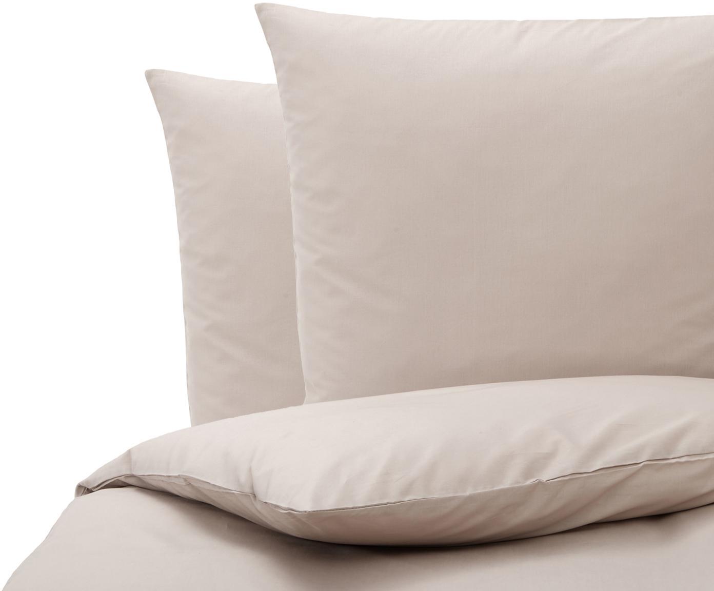 Baumwoll-Bettwäsche Weekend in Taupe, 100% Baumwolle  Fadendichte 145 TC, Standard Qualität  Bettwäsche aus Baumwolle fühlt sich auf der Haut angenehm weich an, nimmt Feuchtigkeit gut auf und eignet sich für Allergiker., Taupe, 200 x 200 cm + 2 Kissen 80 x 80 cm