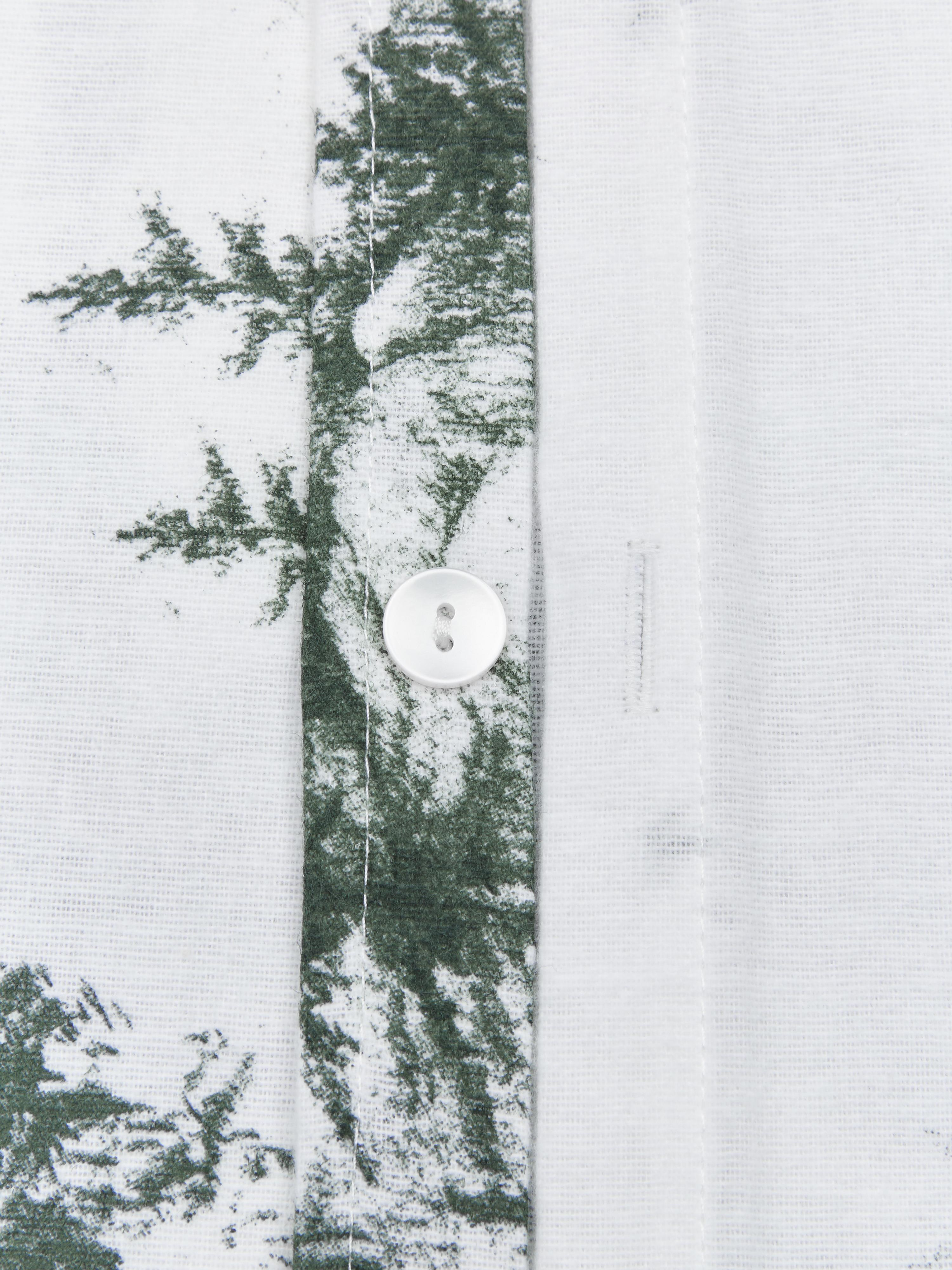 Pościel z flaneli Nordic, Zielony, biały, 135 x 200 cm