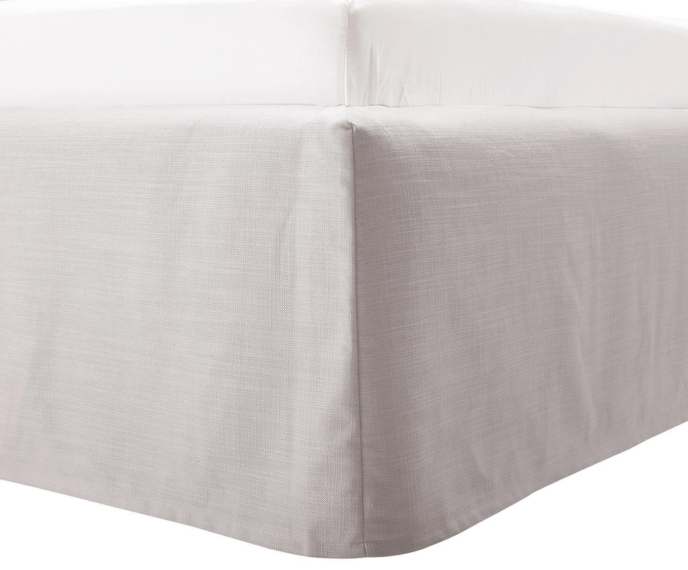 Gestoffeerd bed Feather met opbergfunctie, Frame: massief grenenhout, Bekleding: polyester (structuurmater, Lichtgrijs, 160 x 200 cm