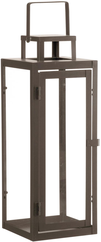 Lantaarn Ragara, Frame: gecoat metaal, Bruin, 15 x 39 cm
