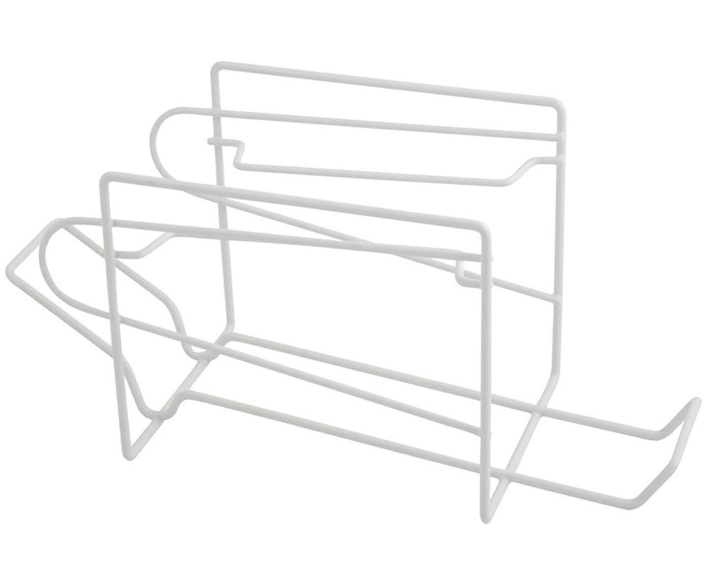 Organizador de latas Fresco, Metal recubierto, Blanco, An 33 x Al 15 cm