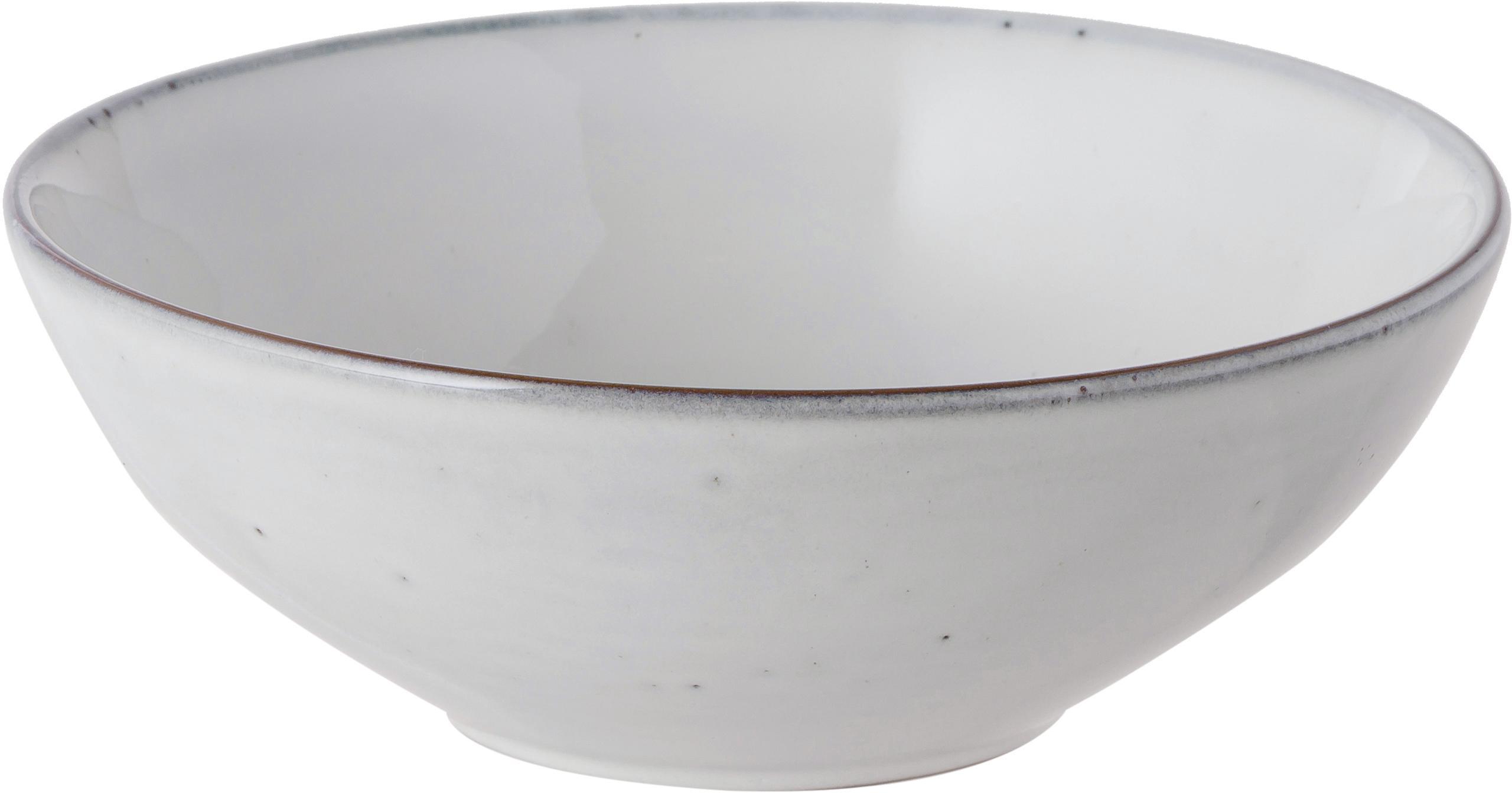 Ręcznie wykonana miska z kamionki Nordic Sand, 4 szt., Kamionka, Piaskowy, Ø 17 x W 6 cm