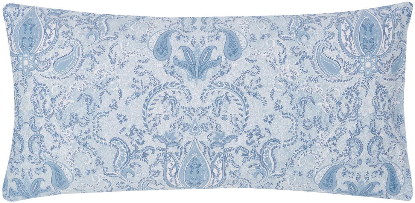 Funda de almohada de satén Grantham, Azul, An 45 x L 85 cm