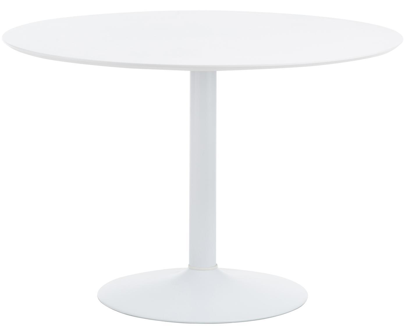 Runder Esstisch Mallorca, Tischplatte: Mitteldichte Holzfaserpla, Weiss, Ø 110 cm