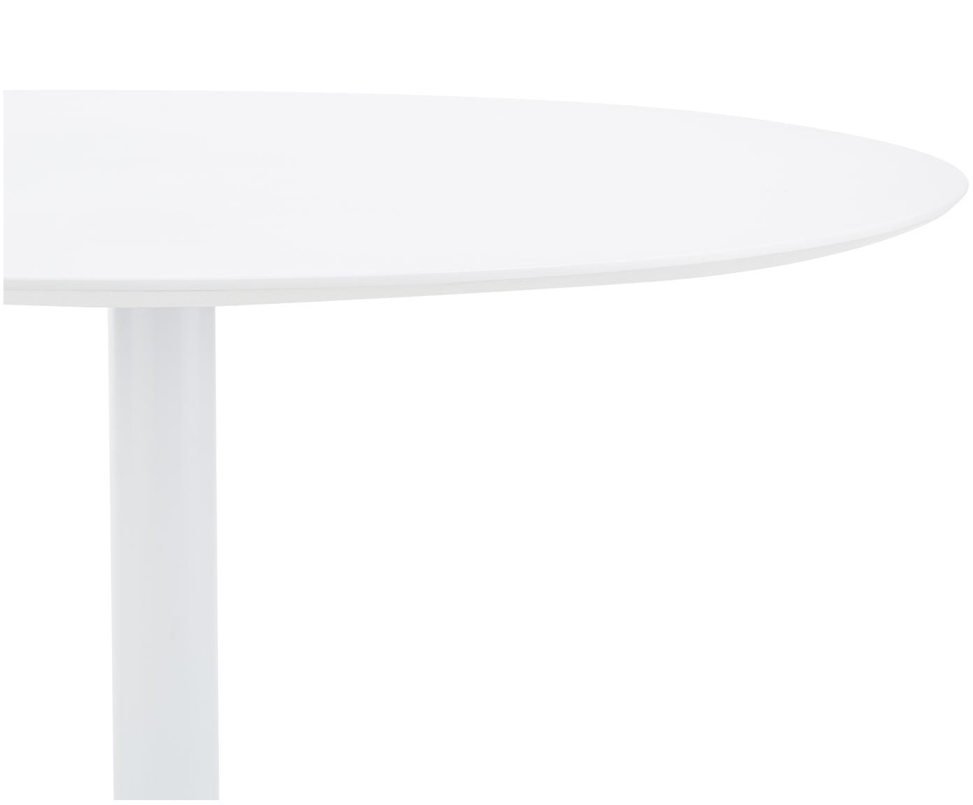 Stół do jadalni Mallorca, Blat: płyta pilśniowa o średnie, Nogi: stal malowana proszkowo, Biały, Ø 110 cm