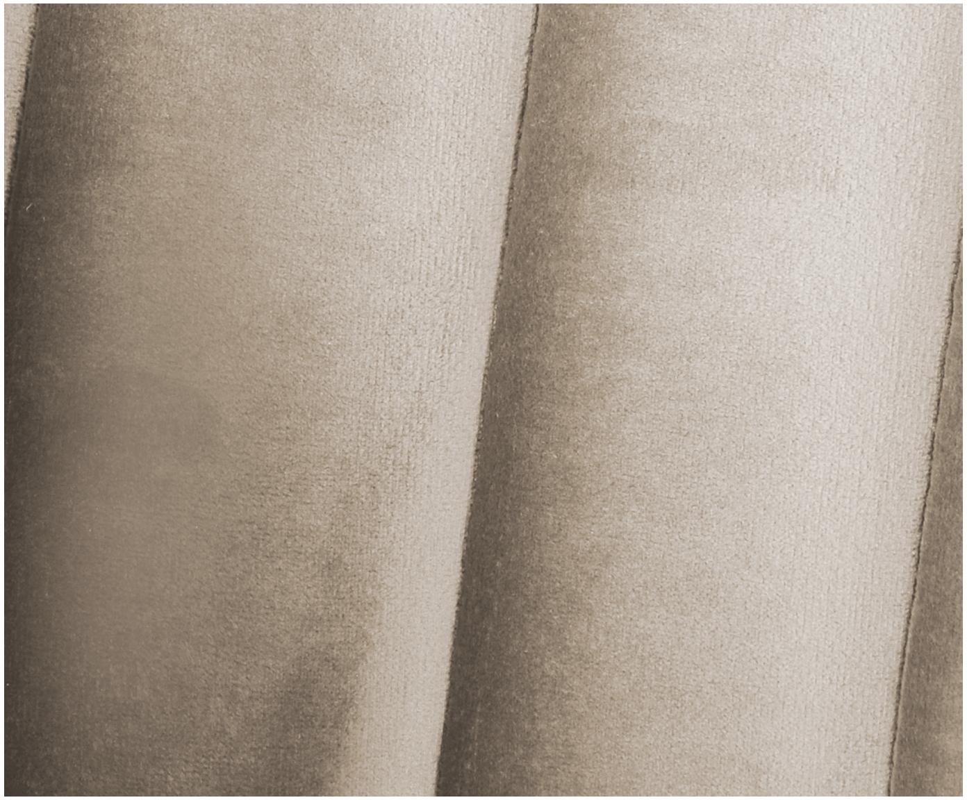 Sofa z aksamitu Dante (3-osobowa), Tapicerka: aksamit poliestrowy, Stelaż: drewno kauczukowe lakiero, Tapicerka: pianka poliuretanowa, Beżowy, S 210 x G 87 cm