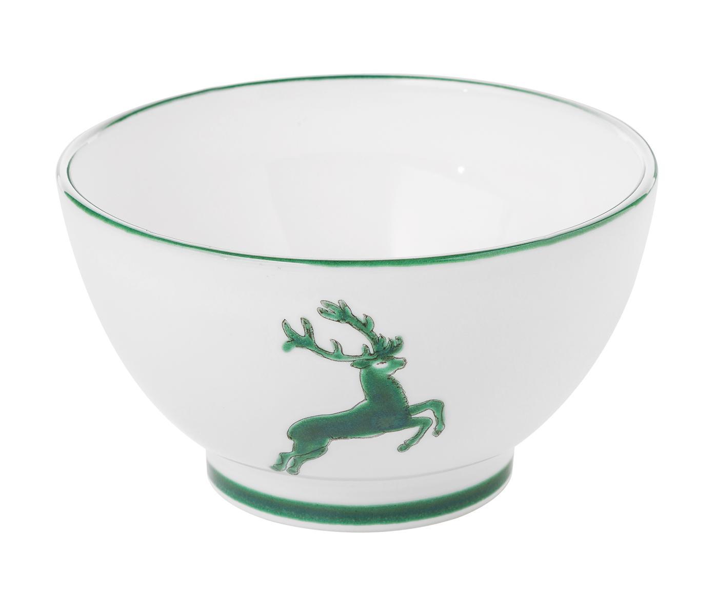 Miska Grüner Hirsch, Ceramika, Zielony, biały, Ø 14 cm