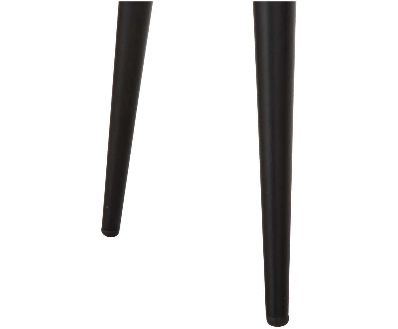 Samt-Polsterstühle Yoki, 2 Stück, Bezug: Samt (Polyester) 20.000 S, Beine: Metall, pulverbeschichtet, Samt Grau, Beine Schwarz, B 53 x T 57 cm
