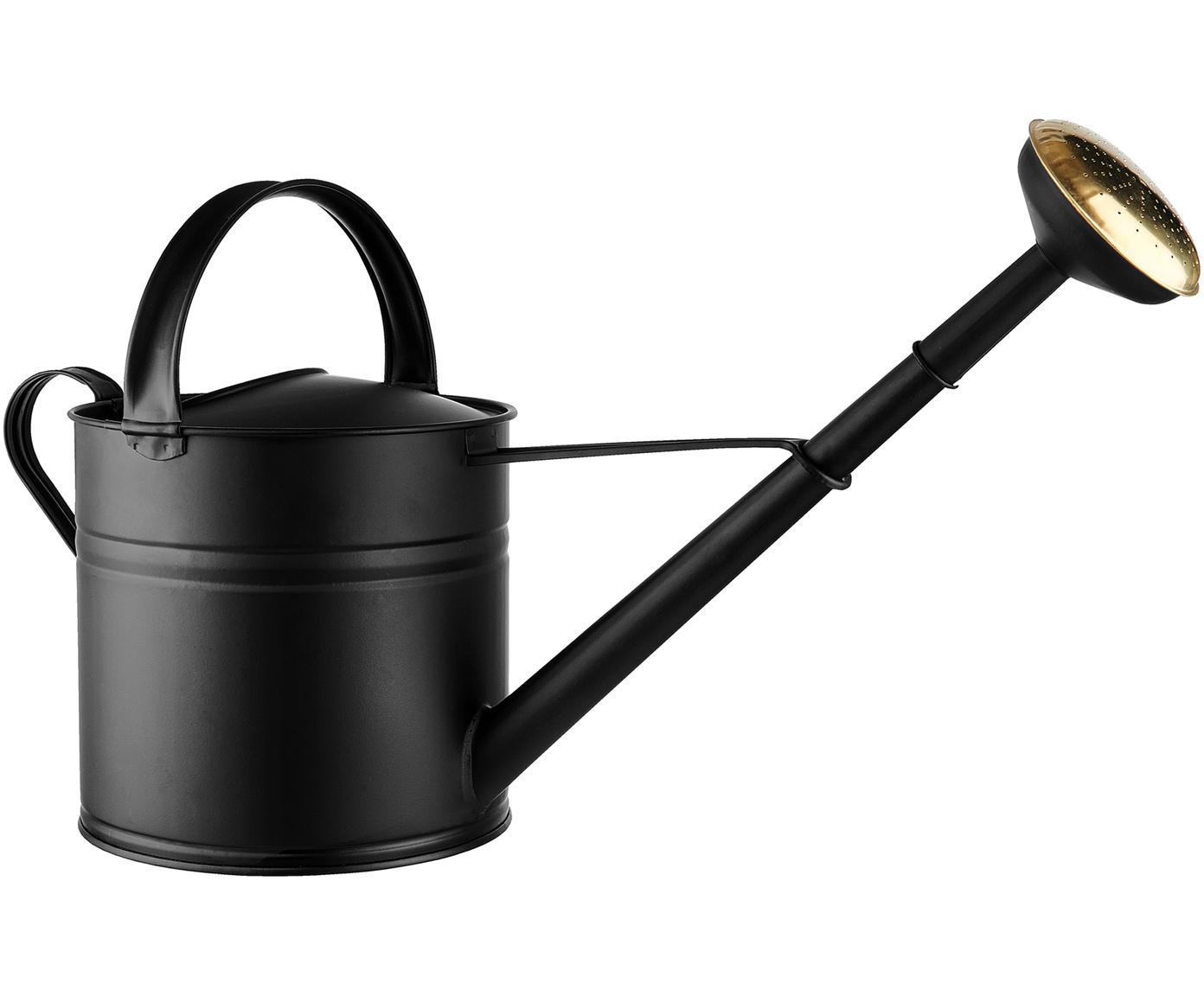 Konewka Zino, Cynk galwanizowany, Czarny, odcienie złotego, D 60 x W 34 cm