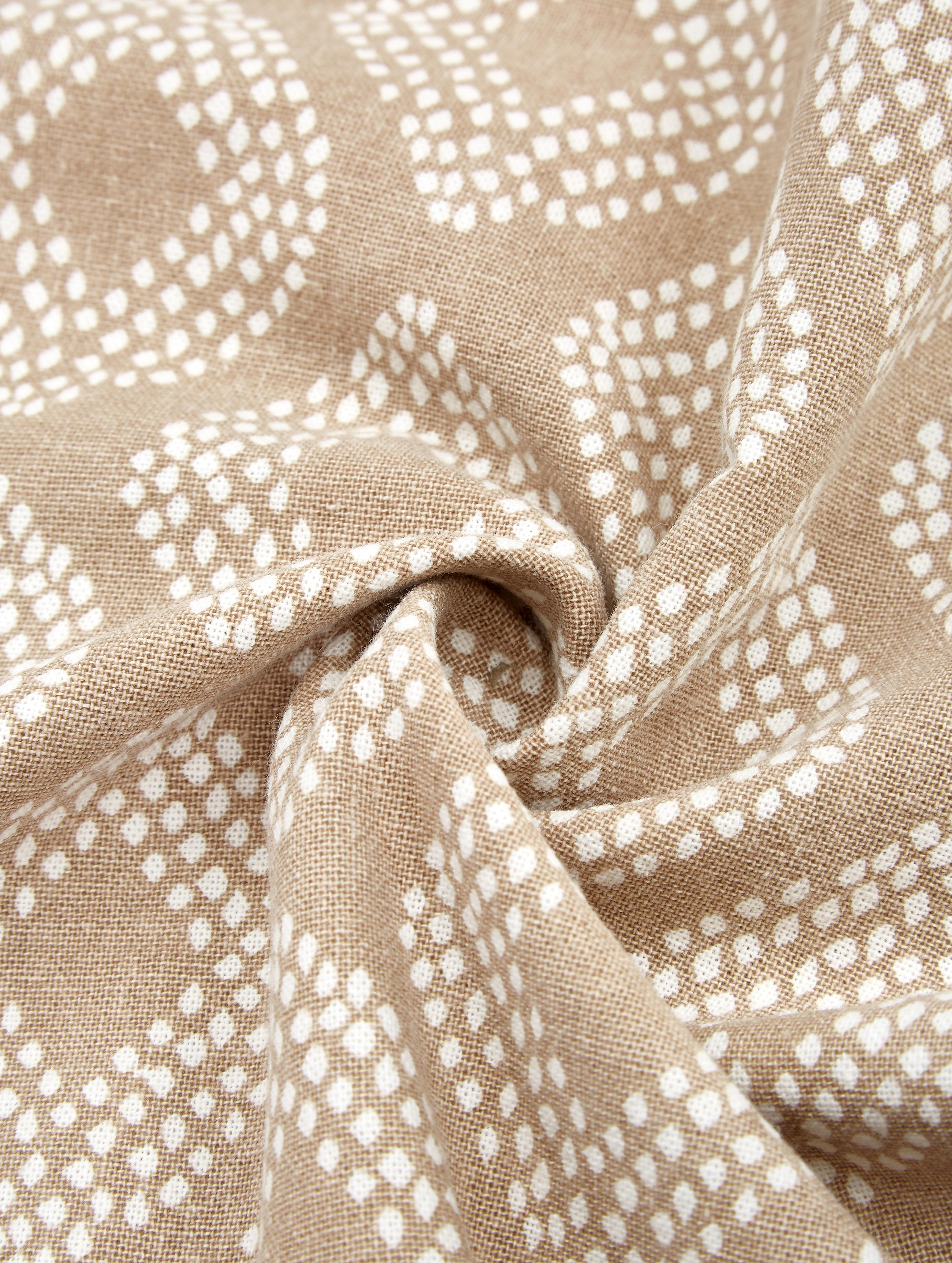 Gemusterte Kissenhüllen Cousin in Beige, 3er-Set, 100% Baumwolle, Beige, Weiß, 45 x 45 cm