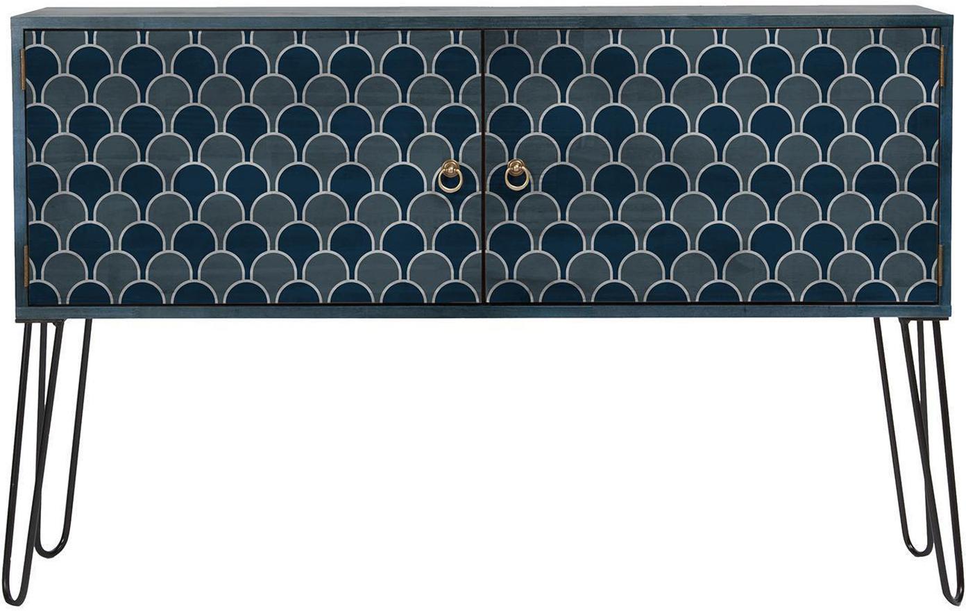 Cómoda Ocean, Patas: metal recubierto con epox, Azul , An 115 x Al 74 cm