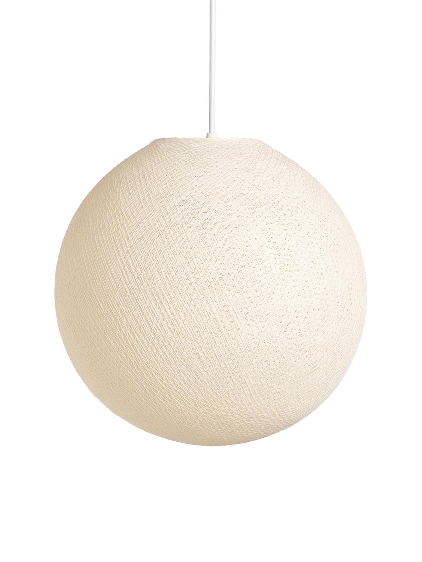 Pendelleuchte Colorain, Lampenschirm: Polyester, Beige, Ø 41 x H 135 cm