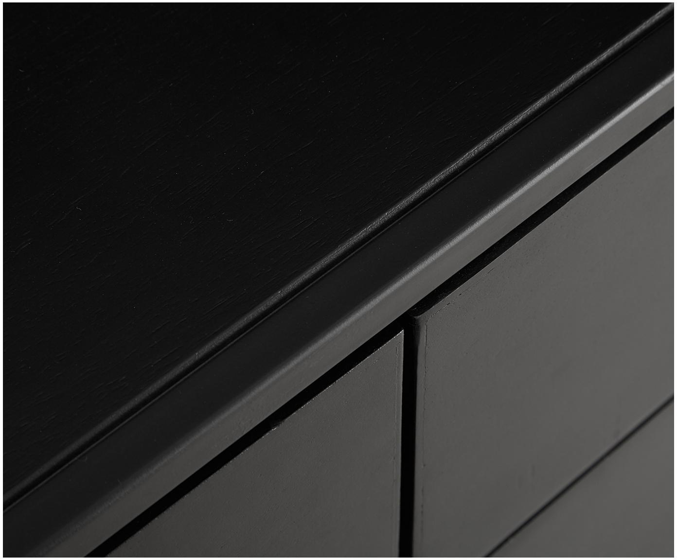 Szafka niska z półką z marmuru Lenny, Korpus: płyta pilśniowa średniej , Stelaż: metal malowany proszkowo, Czarny, białoszary marmur, S 150 x W 55 cm