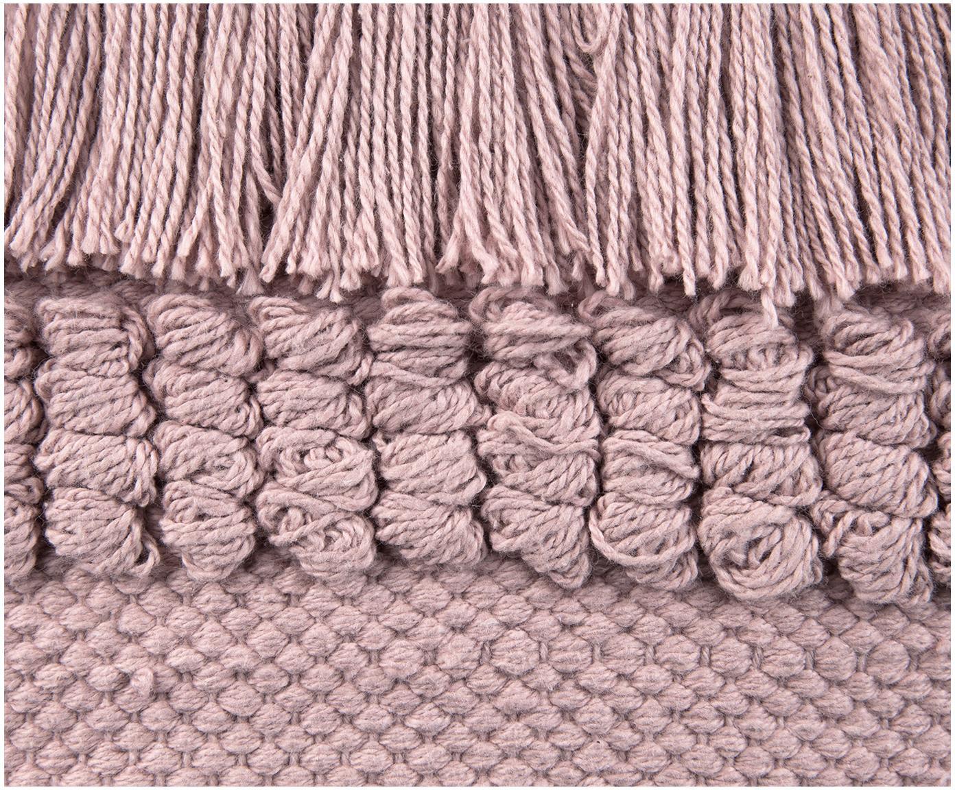 Poszewka na poduszkę Monika, 100% bawełna, Brudny różowy, S 30 x D 50 cm