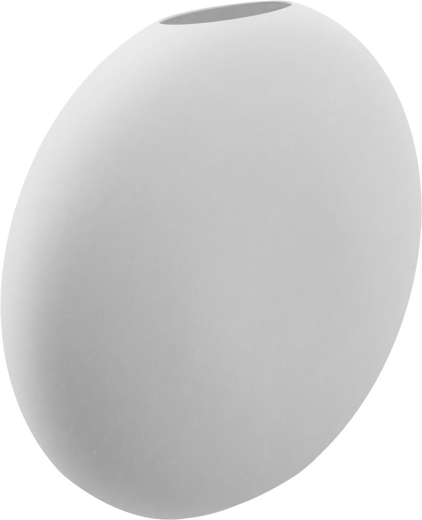 Vaso in ceramica fatto a mano Pastille, Ceramica, Bianco, Larg. 20 x Alt. 19 cm