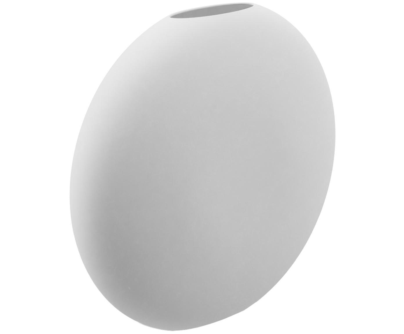 Handgefertigte Keramik-Vase Pastille, Keramik, Weiss, 20 x 19 cm