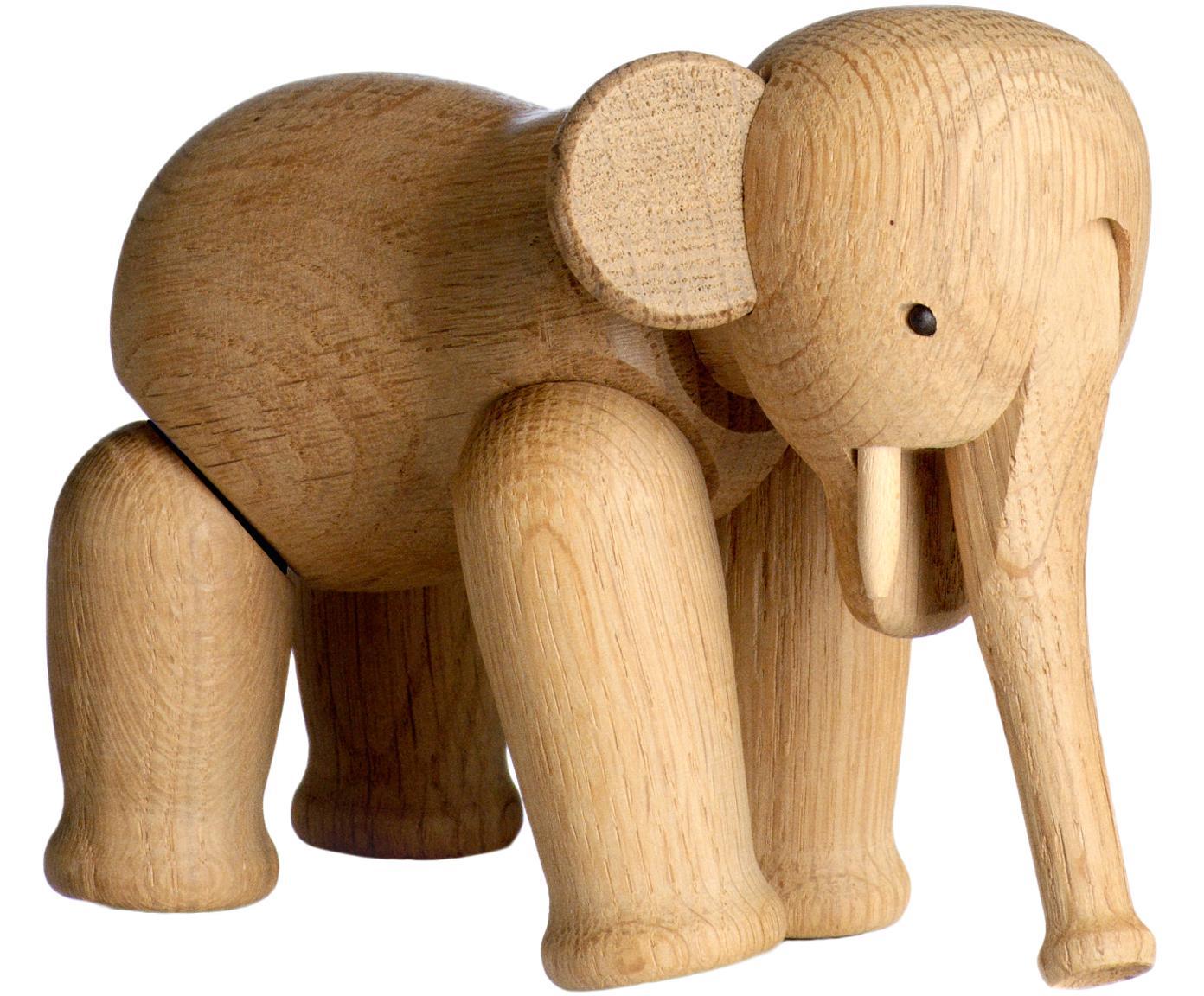 Oggetto decorativo di design Elephant, legno di quercia, Legno di quercia verniciato, Legno di quercia, Larg. 17 x Alt. 13 cm