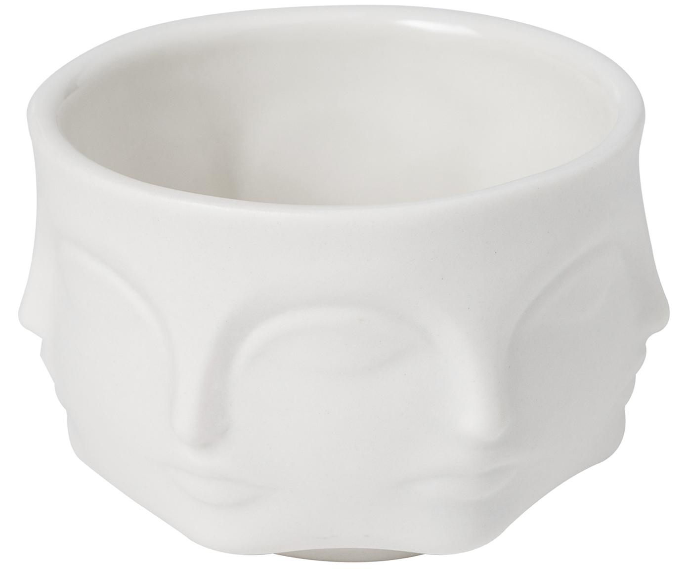 Ciotola di design in porcellana Muse, Porcellana, Bianco, Ø 8 cm