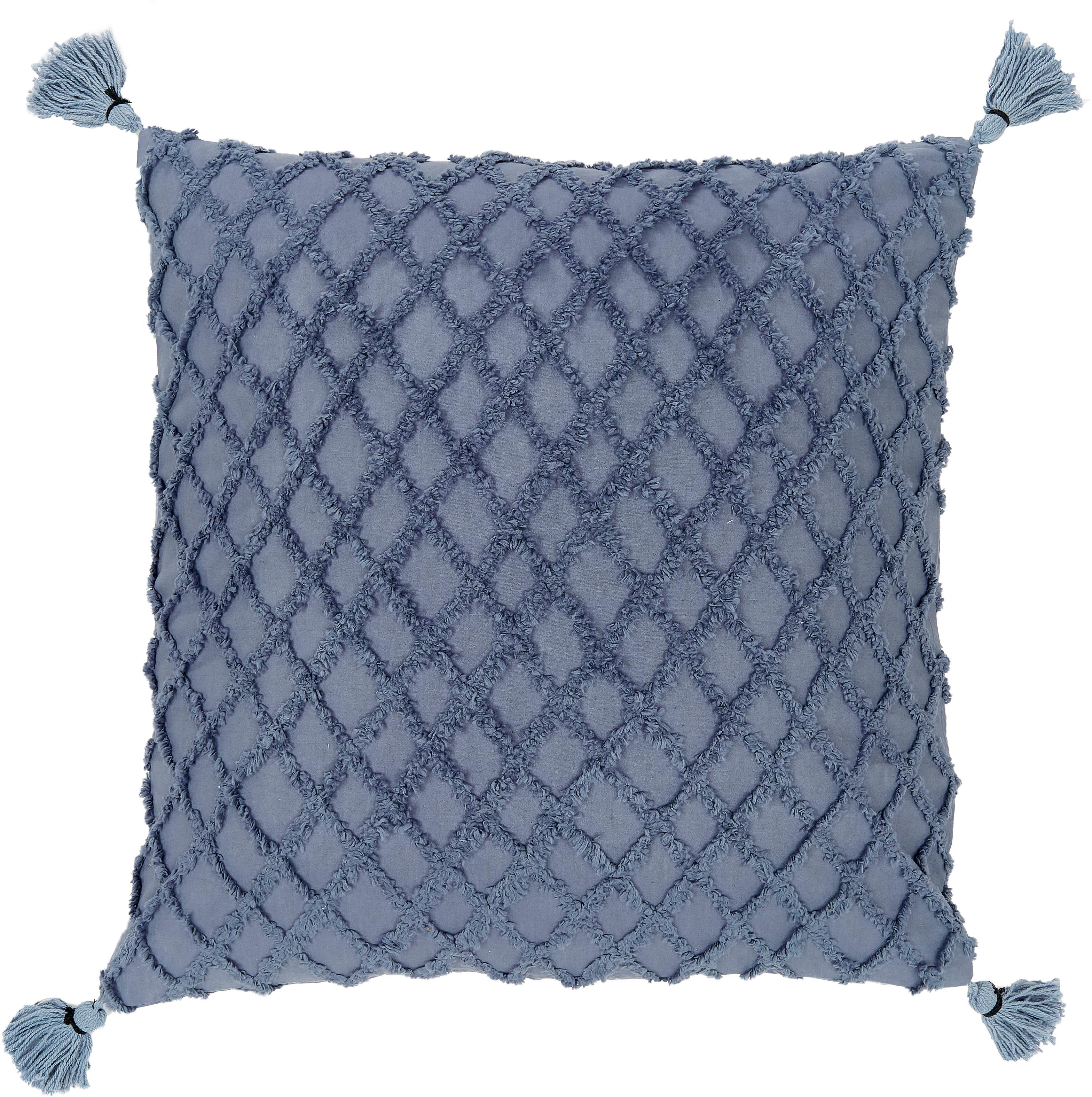 Funda de cojín Royal, Algodón, Azul, An 45 x L 45 cm