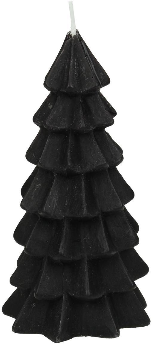 Kerze Christmas Tree, Paraffinwachs, Schwarz, Ø 6 x H 12 cm