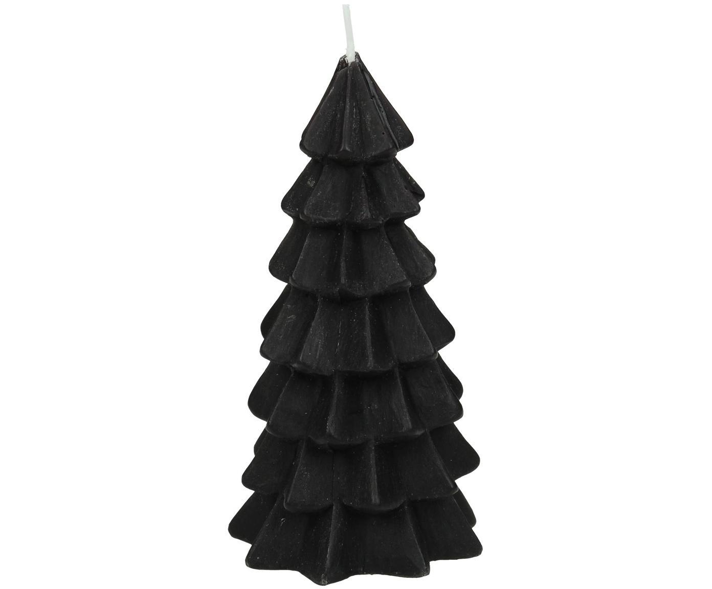 Candela Christmas Tree, Paraffina, Nero, Ø 6 x Alt. 12 cm