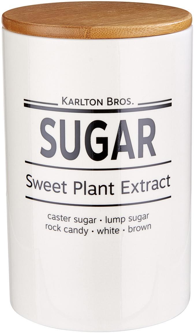 Aufbewahrungsdose Karlton Bros. Sugar, Porzellan, Weiß, Schwarz, Braun, Ø 11 x H 18 cm