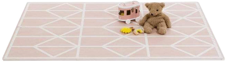 Komplet rozkładanej maty do zabawy Nordic, 18 elem., Piana (EVAC), bez zanieczyszczeń, Blady różowy, kremowy, S 120 x D 180 cm