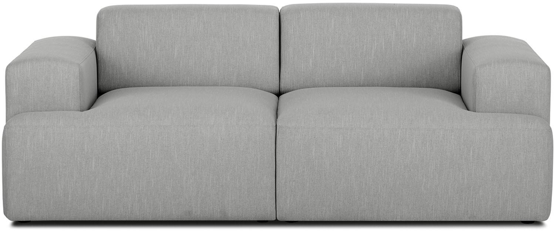 Bank Melva (2-zits), Bekleding: polyester, Frame: massief grenenhout, spaan, Poten: grenenhout, Grijs, B 200 x D 101 cm