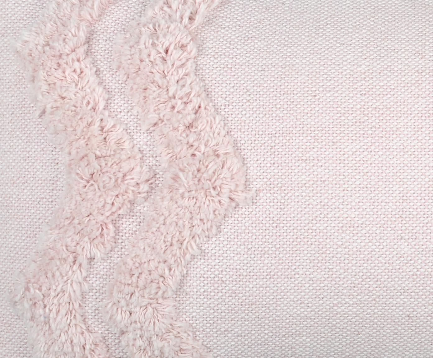 Kussen Blush in Rosa, met vulling, Katoen, Roze, 30 x 50 cm