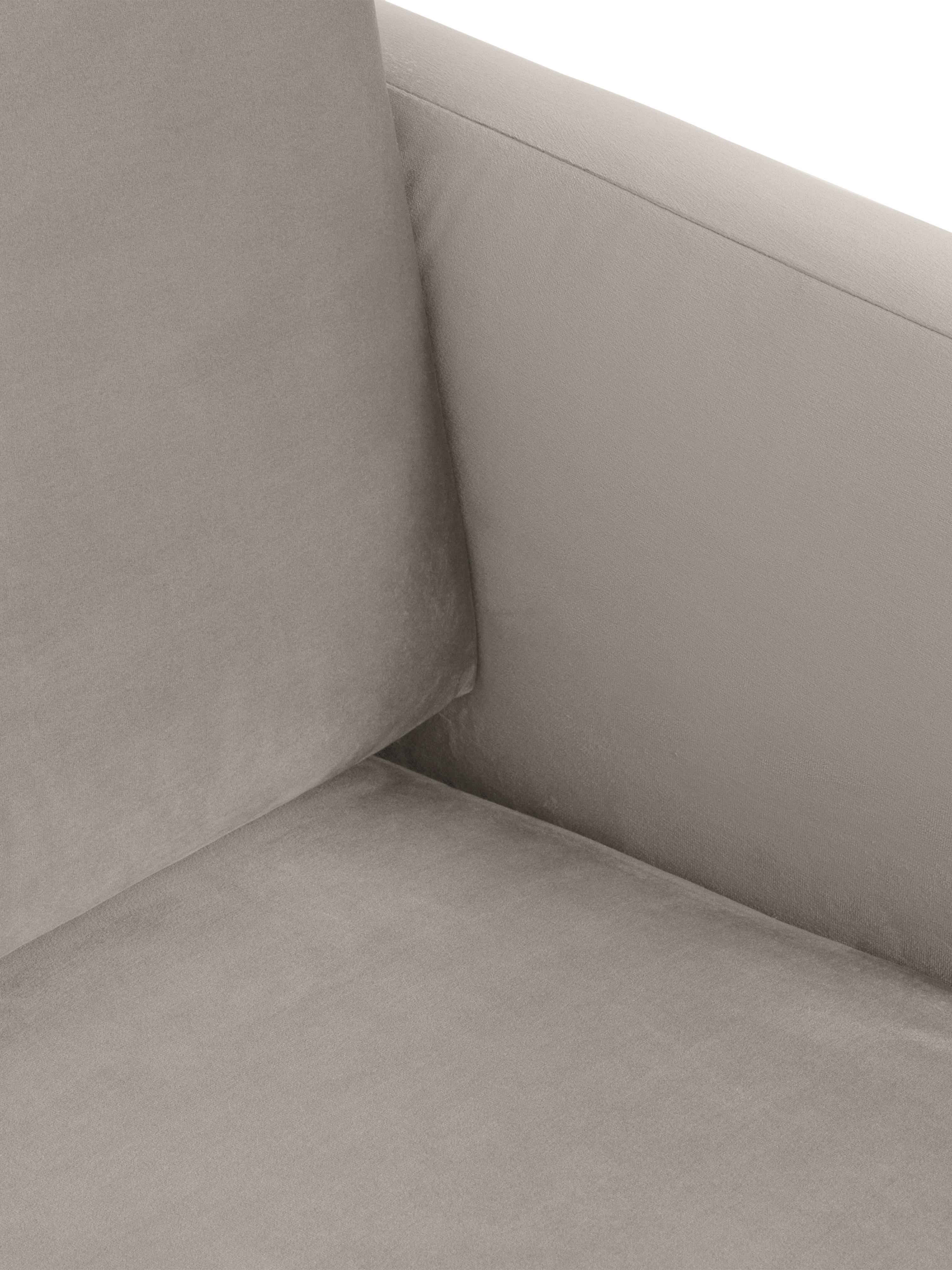 Canapé d'angle velours Fluente, Velours beige