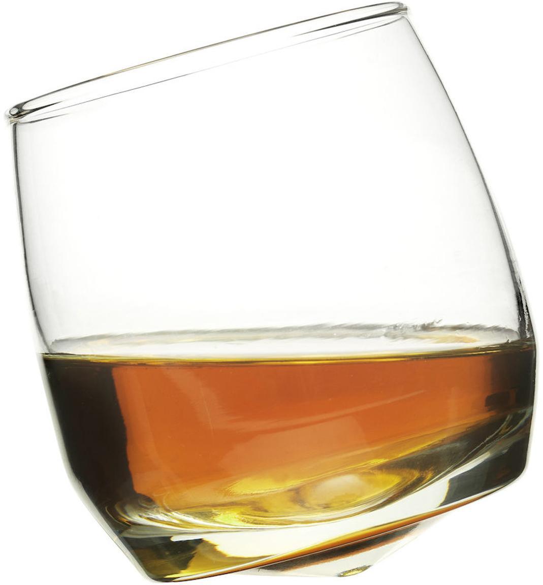 Wiskeyglazen Rocking, 6 stuks, Mondgeblazen glas, Transparant, Ø 7 x H 9 cm