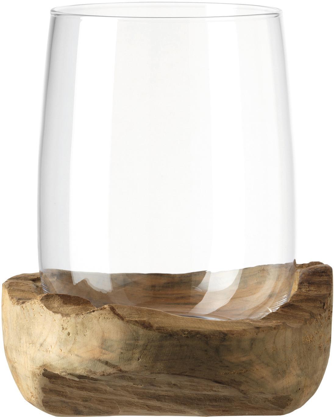 Portavelas artesanal Terra, Portavelas: vidrio, Transparente, Ø 23 x Al 27 cm