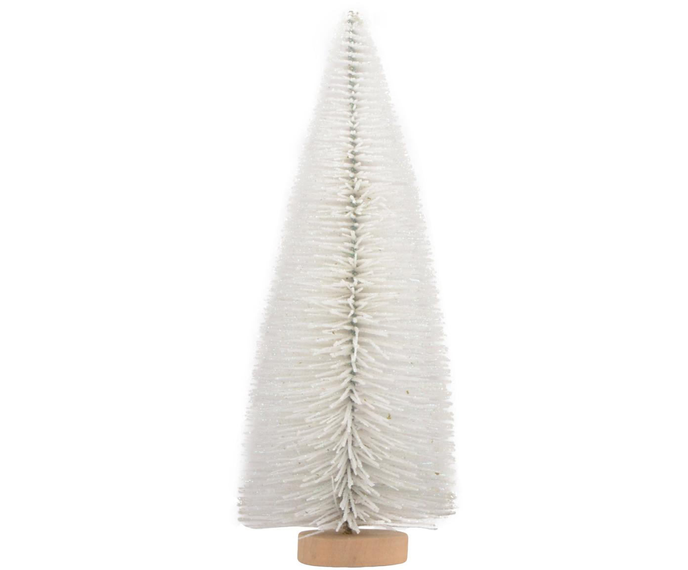Oggetto decorativo Christmas Tree, Metallo, Bianco, marrone chiaro, Ø 8 x Alt. 20 cm
