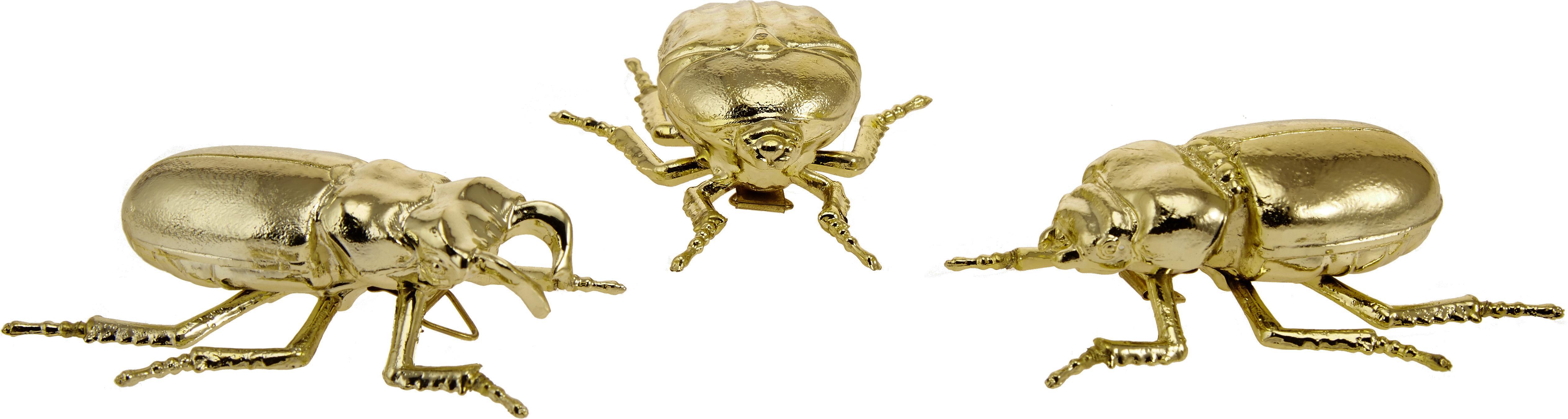 Set scarabei da decorazione Carny, 3 pz., Resina sintetica, Dorato, L 11 x A 4 cm