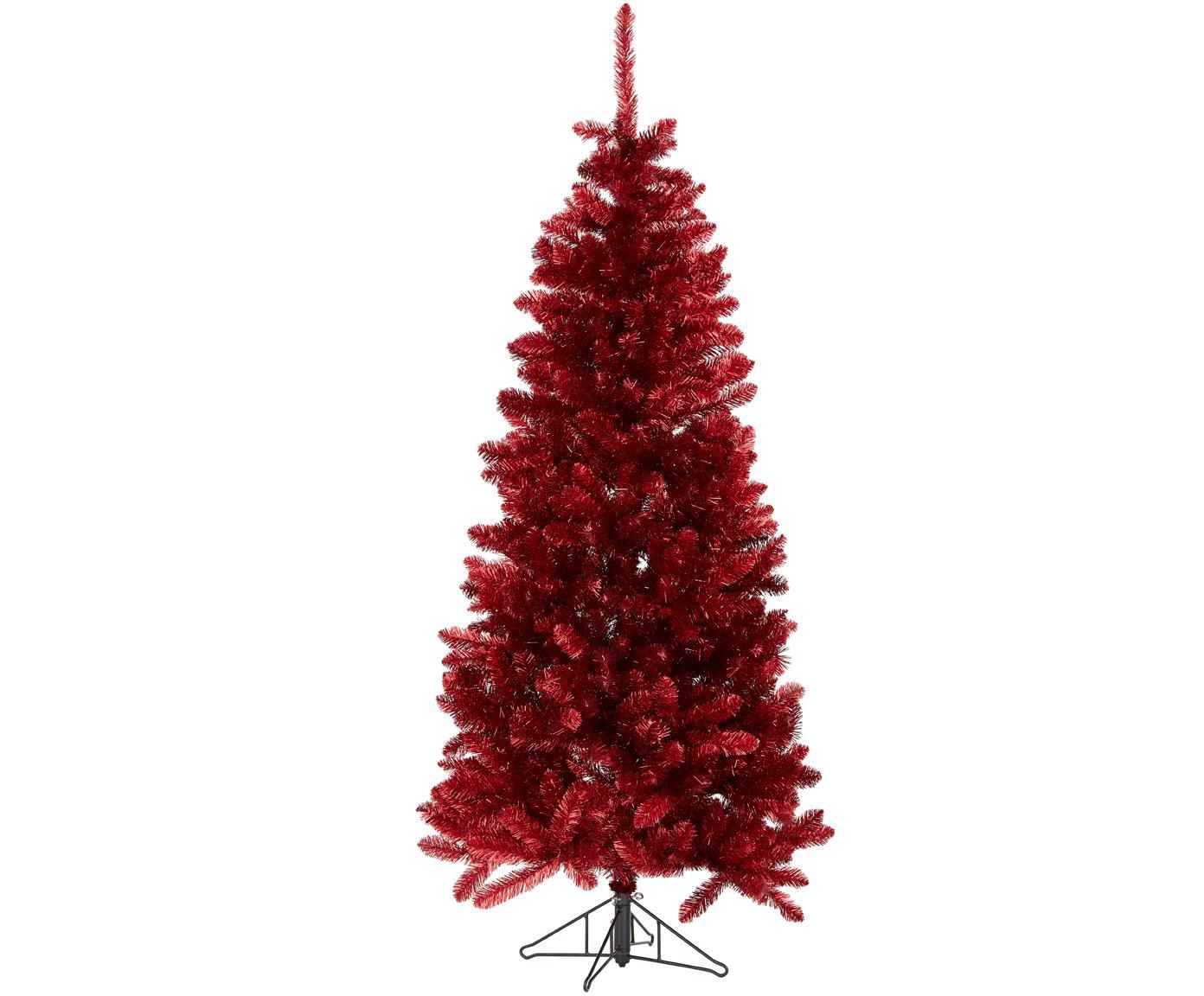 Albero di Natale artificiale Colchester, Materiale sintetico (PVC), Rosso, Ø 84 x Alt. 185 cm