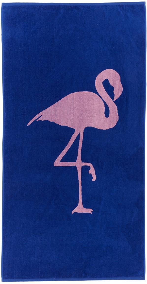 Ręcznik plażowy Mina, Bawełna Niska gramatura 380 g/m², Niebieski, różowy, S 80 x D 160 cm