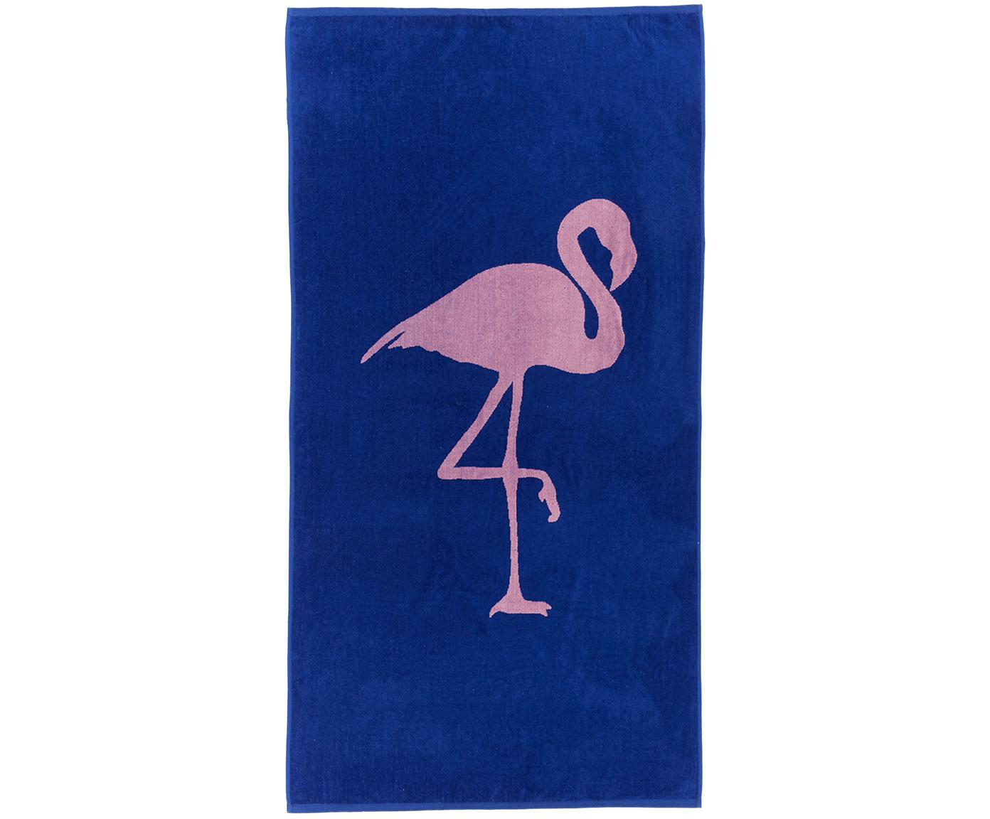 Toalla de playa Mingo, Azul, rosa, An 80 x L 160 cm