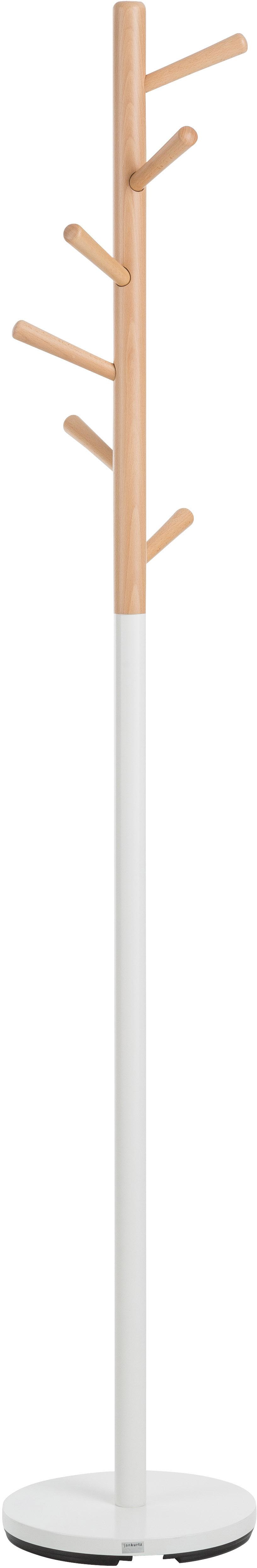 Appendiabiti Kent, Bianco, faggio, Ø 32 x Alt. 182 cm